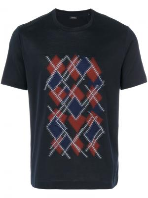 Graphic print T-shirt Z Zegna. Цвет: синий