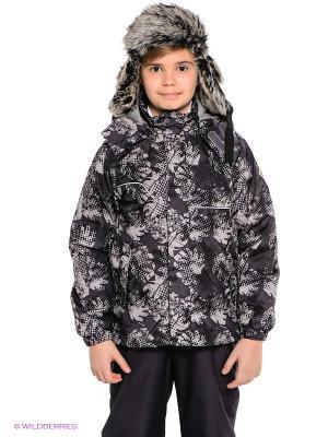 Куртка HUPPA. Цвет: серый, коричневый
