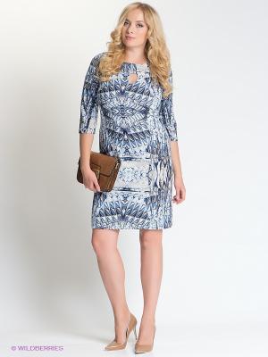 Платье Capriz. Цвет: голубой, темно-синий, коричневый