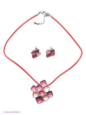 Комплект Fiore Lune. Цвет: красный, бордовый, розовый