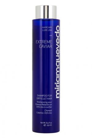 Шампунь для непослушных волос с экстрактом черной икры Extreme Caviar For Difficult Hair, 250ml Miriamquevedo. Цвет: multicolor
