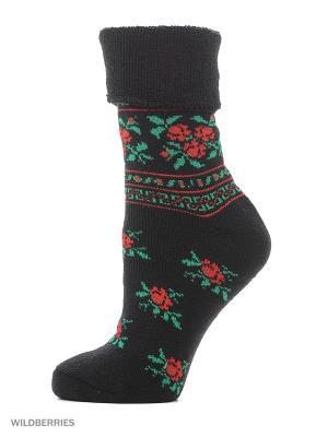 Новогодние носки HOSIERY. Цвет: черный, антрацитовый