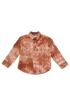 Рубашка Vitacci. Цвет: коричневый