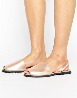 Park Lane Кожаные сандалии. Цвет: медный