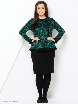 Джемпер Veronika Style. Цвет: черный, зеленый