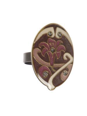Кольцо Clara Bijoux. Цвет: малиновый, бежевый, фиолетовый
