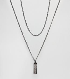 Seven London 2 ожерелья эксклюзивно для ASOS. Цвет: серебряный