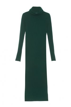 Платье из шерсти мериноса с кашемиром Mixer. Цвет: зеленый