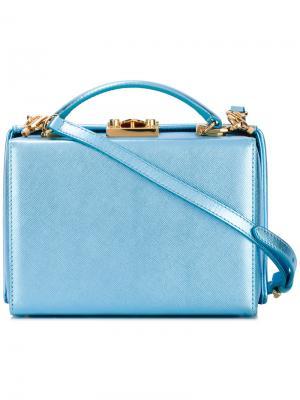 Блестящая сумка через плечо Mark Cross. Цвет: синий