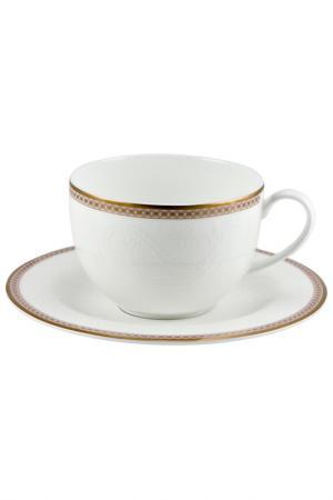 Чашка с блюдцем Royal Porcelain. Цвет: белый, золотой