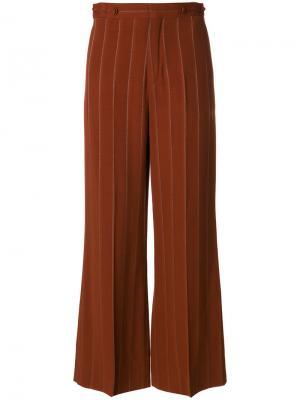 Расклешенные брюки в тонкую полоску Chloé. Цвет: коричневый