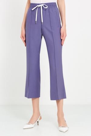 Серые брюки в спортивном стиле Miu. Цвет: голубой