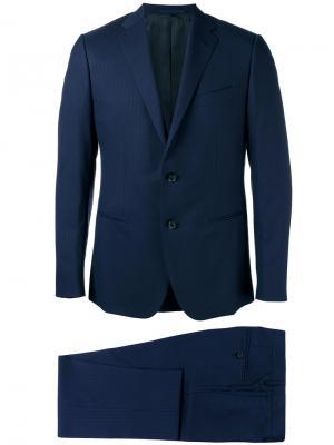 Формальный костюм-двойка Caruso. Цвет: синий