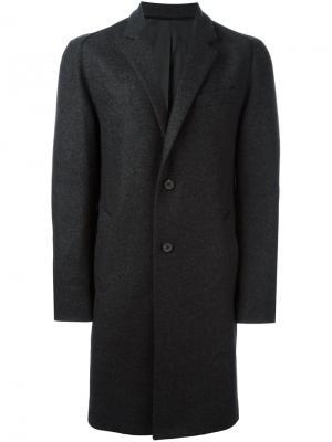 Однобортное пальто Wooyoungmi. Цвет: серый