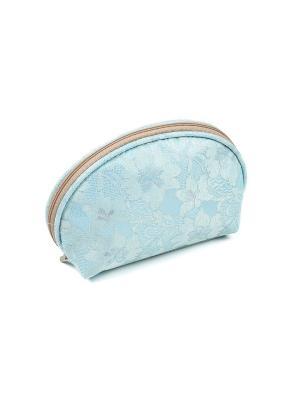 Косметичка из ткани DW-11-10 №4, CB-2182-L blue Zinger. Цвет: голубой