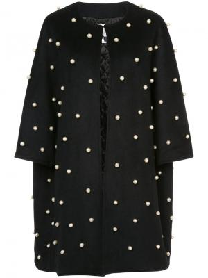 Декорированное пальто Edward Achour Paris. Цвет: чёрный