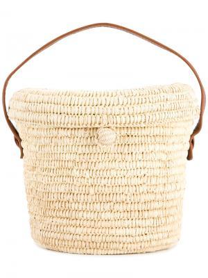 Bucket woven bag Sensi Studio. Цвет: коричневый