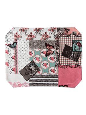 Набор ковриков на стол Лоскутклаб. Цвет: розовый, белый