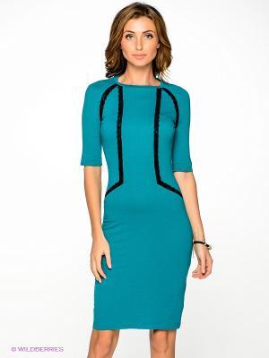 Платье V&V. Цвет: морская волна