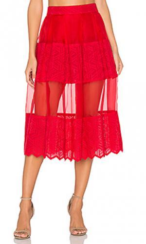 Юбка-шорты rosie VIVIAN CHAN. Цвет: красный