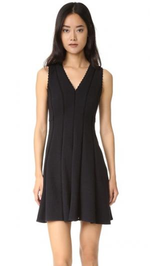 Платье без рукавов с ромбовидной текстурой Rebecca Taylor. Цвет: голубой