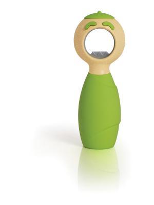 Открывалка для бутылок Squeakie Green BOSTON. Цвет: зеленый