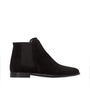 Ботинки-челси кожаные с помпонами MADEMOISELLE R. Цвет: черный
