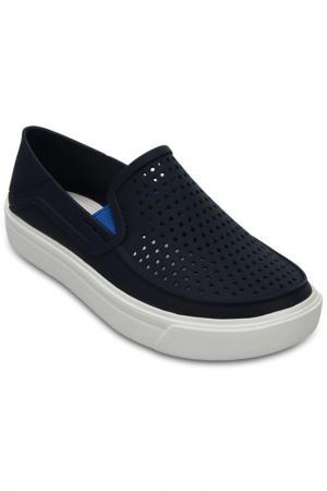 Мокасины Crocs. Цвет: синий