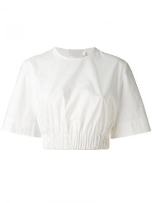 Укороченная футболка с эластичным подолом Solace. Цвет: белый