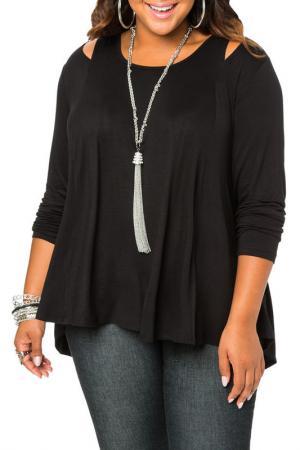 Блузка Exline. Цвет: black