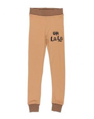 Повседневные брюки MINI RODINI. Цвет: бежевый