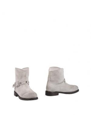 Полусапоги и высокие ботинки MR. WOLF. Цвет: светло-серый