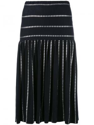 Metallic print skirt Krizia Vintage. Цвет: синий