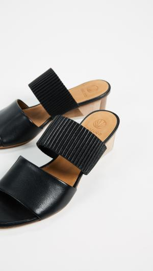 Ooh La Block Heel Mules Coclico Shoes