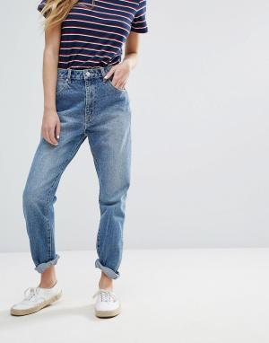 Rollas Джинсы в винтажном стиле. Цвет: синий