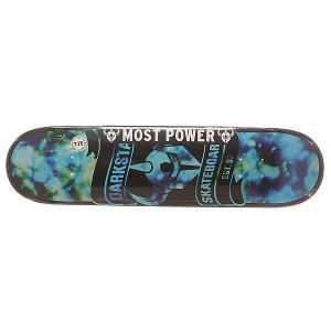 Дека для скейтборда  S6 Hyb Scroll Blue 31.2 x 7.75 (19.7 см) Darkstar. Цвет: голубой,черный