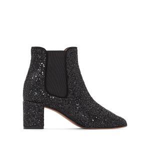 Ботинки с блестками Donelo, эксклюзивная модель La Redoute JONAK. Цвет: черный