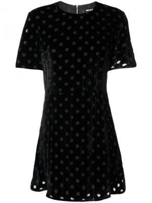 Расклешенное платье в горох House Of Holland. Цвет: чёрный