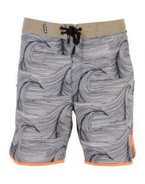 Пляжные брюки и шорты HURLEY. Цвет: черный
