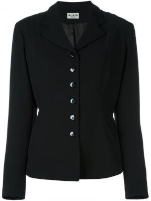 Приталенный пиджак Alaïa Vintage. Цвет: чёрный