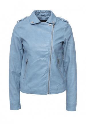 Куртка кожаная Dorothy Perkins. Цвет: голубой