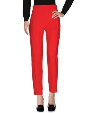 Повседневные брюки ALEX VIDAL. Цвет: красный