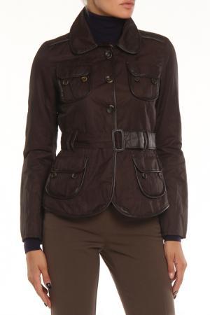 Полуприлегающая куртка с 4-мя карманами One Step. Цвет: коричневый