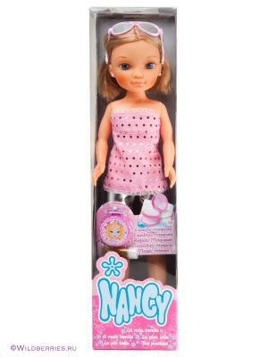 Кукла Ннси с короткой стрижкой Famosa. Цвет: розовый
