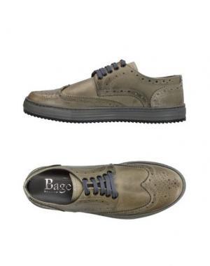 Обувь на шнурках BAGE. Цвет: зеленый-милитари