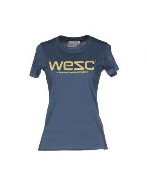 Футболка WESC. Цвет: грифельно-синий