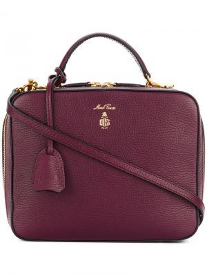 Квадратная сумка-тоут Mark Cross. Цвет: розовый и фиолетовый