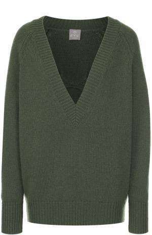 Кашемировый пуловер свободного кроя FTC. Цвет: хаки