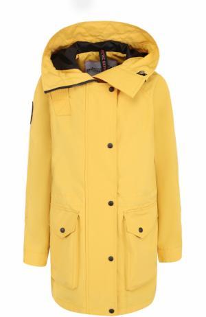 Парка свободного кроя с капюшоном Arctic Explorer. Цвет: желтый