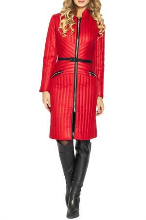Пальто CLEVER woman studio. Цвет: красный